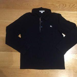 Burberry boys long sleeve polo shirt. Size 12y